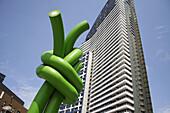 Green knot sculpture, Melbourne, Victoria, Australia