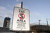 Information sign, Harbour Esplanade, Docklands, Victoria Harbour, Melbourne, Australia