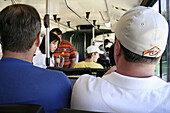Passengers in public busline to Fremantle, Perth, Western Australia