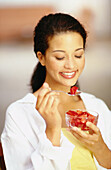our, Contemporary, Dark-haired, Dessert, Desserts, Diet, Diets, Eat, Eating, Female, Food, Fruit, Fru