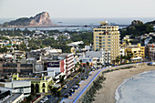 MEXICO-Sinaloa State-Mazatlan: Hotels along Playa Olas Altas and Old Mazatlan / Late Afternoon