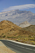 OMAN-Western Hajar Mountains: View of the Western Hajar Mountains from the Al Hamra Road