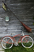 USA-Michigan-Lake Michigan Shore-Leelanau County-Leeland: Bicycle and fishing Gear