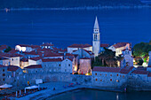 Mediterranean city of Budva, Montenegro.
