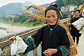 China. Guizhou province. Market around Congjiang. Black Miao ethnic group.