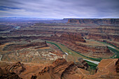 Gooseneck of the Colorado River as seen from Dead Horse Point, Dead Horse Point State Park, Utah, USA