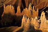 Sunrise light on Hoodoos, from Sunrise Point, Bryce Canyon National Park, Utah, USA