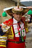 Peliqueiros', carnival. Laza. Orense province. Spain