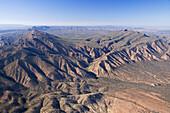 Edeowie Gorge, Wilpena Pound, Flinders Ranges, South Australia, Australia - aerial