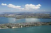 Bucklands Beach, Auckland, North Island, New Zealand - Aerial