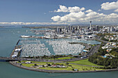 Point Erin and Westhaven Marina, Auckland, North Island, New Zealand - Aerial