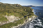 Twelve Mile Bluff, north of Greymouth, West Coast, South Island, New Zealand - aerial