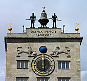 Bell thug, Kroch Skyscraper, Augustus Square, Leipzig, Saxony, Germany
