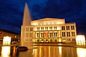 Opera House, Augustus Square, Leipzig, Saxony, Germany