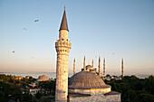 Blue Mosque, Sultan Ahmed Mosque, Sultanahmet Camii and Firuz Aga Mosque, Firuz Aga Camii, Istanbul, Turkey, Europe