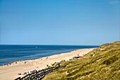 Dunes and Beach near Wenningstedt, Sylt Island, North Frisian Islands, Schleswig-Holstein, Germany