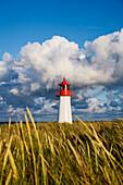 Lighthouse List-West, Ellenbogen, Sylt Island, North Frisian Islands, Schleswig-Holstein, Germany