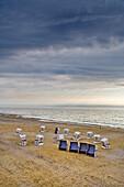 Beach Chair at Beach, Sylt Island, North Frisian Islands, Schleswig-Holstein, Germany