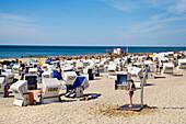 Beach Chairs, Beach, Westerland, Sylt Island, North Frisian Islands, Schleswig-Holstein, Germany
