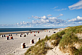 Beach Chairs on the Beach near Norddorf, Amrum, Island, North Frisian Islands, Schleswig-Holstein, Germany
