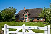 Museum, Öömrang Hus, Nebel, Amrum Island, North Frisian Islands, Schleswig-Holstein, Germany