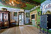 Tiles in Museum Königspesel, Hallig Hooge, North Frisian Islands, Schleswig-Holstein, Germany