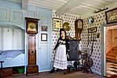 Museum of local History, Honkenwarft, Hallig Langeness, North Frisian Islands, Schleswig-Holstein, Germany