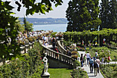 Tourists visiting Mainau island, Baden-Wurttemberg, Germany