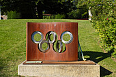 Sculpture in the garden of the Olympic Museum, Ouchy, Lausanne, Canton of Vaud, Switzerland