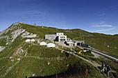 Top station, Rochers de Naye, Montreux, Canton of Vaud, Switzerland