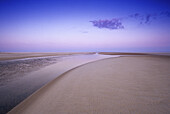 Evening mood at the deserted Kniepsand beach, Amrum island, North Friesland, North Sea, Schleswig-Holstein, Germany