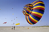 Kites at the beach, St. Peter-Ording, Schleswig-Holstein, Germany