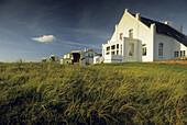 The sunlit Villa Belvedere, Norderney island, East Friesland, Lower Saxony, Germany