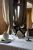 Ready laid table with table settings, Restaurant Hotel Fischerzunft, Schaffhausen, Switzerland