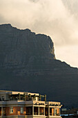 Detail of the Cape Grace Hotel in front of the Table Mountain, Cape Town, South Africa, Africa
