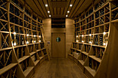 Wine cellar with vintage wines, Palais Coburg, Vienna, Austria