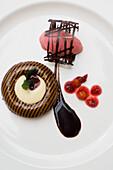 Chocolate savarin with whiskey foam, Dessert, Vienna, Austria