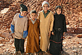 Four children of berbers, Morocco, Africa