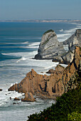 Coastal landscape at Cabo da Roca, near Guincho Beach, Costa de Lisboa, Lisbon District, Estremadura, Portugal, Atlantic
