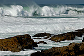 Waves breaking, near Guincho Beach, Costa de Lisboa, District of Lisbon, Estremadura, Portugal, Atlantic