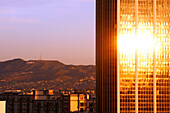 View to Hollywood and The L.A. Exchange Center from Downtown Los Angeles, California, USA, United States of Amerika