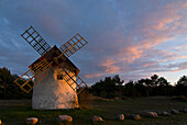 Windmill near Djauvik, Gotland, Sweden, Scandinavia, Europe