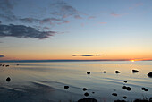 Coastal landscape near Djauvik, Gotland, Sweden, Scandinavia, Europe