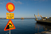 Farosund harbour, ferry to Faro, Gotland, Sweden, Scandinavia, Europe