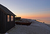 Wooden hut on the beach, Faro, North coast, Gotland, Sweden, Scandinavia, Europe