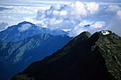 Clouds over the Yushan North Peak at Yushan National Park, Taiwan, Asia