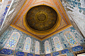Stained-glass Windows and Dome Roof at Harem of Topkapi Palace, Istanbul, Turkey