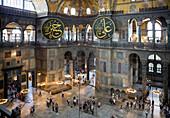 Nave of Hagia Sophia, Istanbul, Turkey
