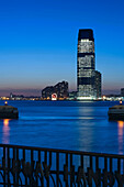 GOLDMAN SACHS TOWER JERSEY CITY. HUDSON RIVER. NEW JERSEY. USA