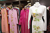 Asian style dresses on sale in Saigon Tax Trade Centre shopping mall, Ho Chi Minh City, Vietnam